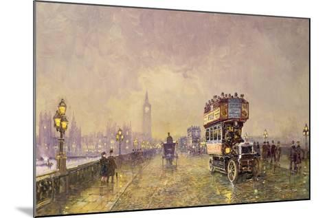 Going Home, Westminster Bridge-John Sutton-Mounted Giclee Print