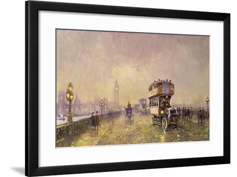 Going Home, Westminster Bridge-John Sutton-Framed Art Print