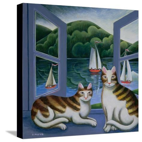 Bonny and Clyde-Jerzy Marek-Stretched Canvas Print