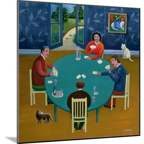 Card Game-Jerzy Marek-Mounted Giclee Print