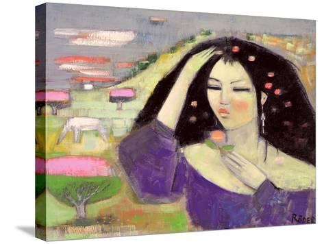 Tomoko Dreaming in English III-Endre Roder-Stretched Canvas Print