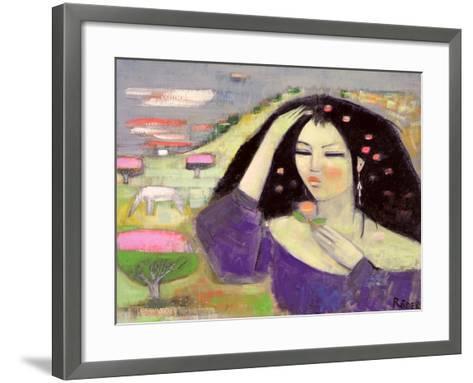 Tomoko Dreaming in English III-Endre Roder-Framed Art Print