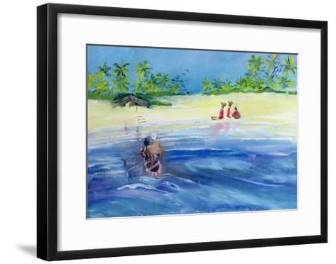 Candolim Beach, Goa, India, 1998-Sophia Elliot-Framed Art Print