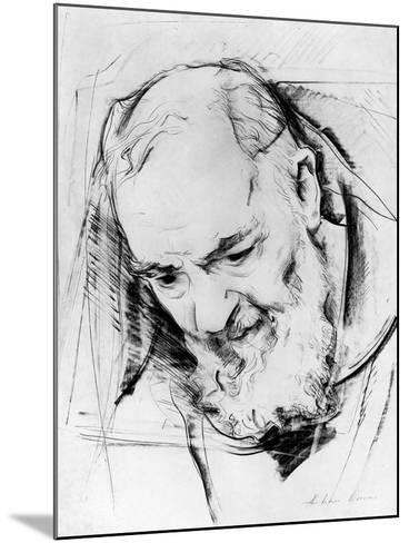 Study for a Padre Pio Monument, 1979-80-Antonio Ciccone-Mounted Giclee Print