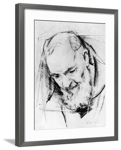 Study for a Padre Pio Monument, 1979-80-Antonio Ciccone-Framed Art Print