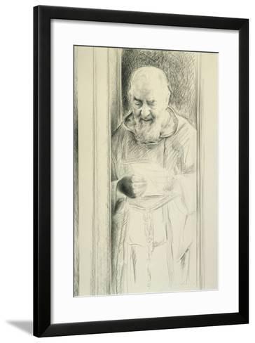 Padre Pio, 1988-89-Antonio Ciccone-Framed Art Print