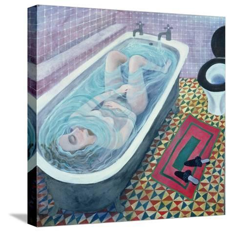 Dreaming in the Bath, 1991-Lucy Raverat-Stretched Canvas Print