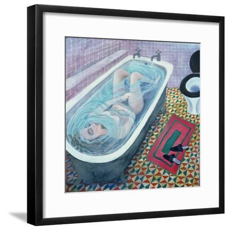 Dreaming in the Bath, 1991-Lucy Raverat-Framed Art Print