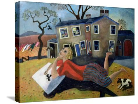 The Artist at Meregill, 1992-Lucy Raverat-Stretched Canvas Print