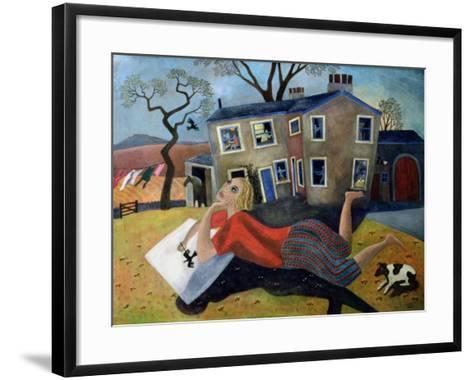 The Artist at Meregill, 1992-Lucy Raverat-Framed Art Print