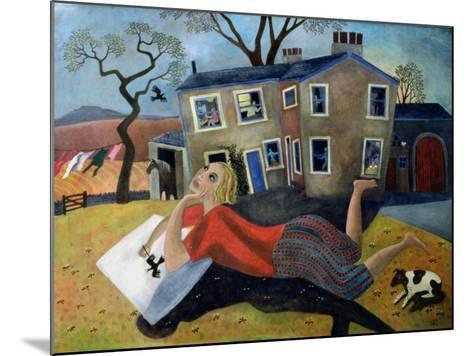 The Artist at Meregill, 1992-Lucy Raverat-Mounted Giclee Print