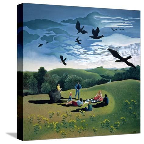 The Picnic, C.1986-Lucy Raverat-Stretched Canvas Print