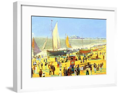 Ghosts on Brighton Beach-Robert Tyndall-Framed Art Print