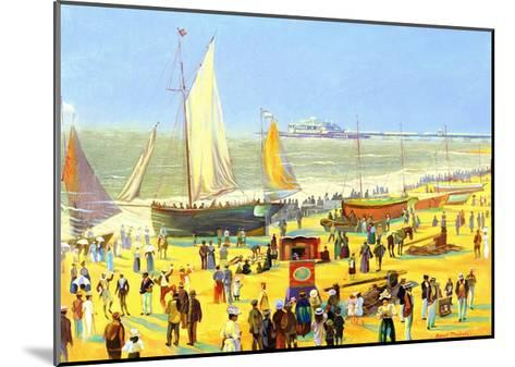 Ghosts on Brighton Beach-Robert Tyndall-Mounted Giclee Print