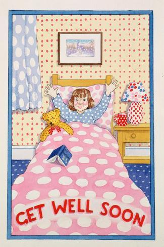 Get Well Soon-Lavinia Hamer-Stretched Canvas Print