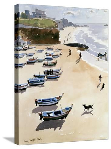Boats on the Beach, 1986-Lucy Willis-Stretched Canvas Print
