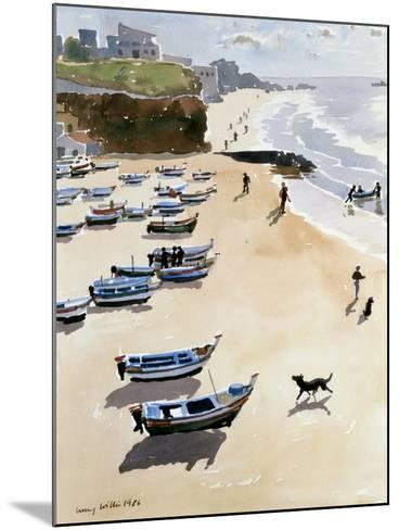 Boats on the Beach, 1986-Lucy Willis-Mounted Giclee Print