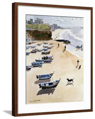 Boats on the Beach, 1986-Lucy Willis-Framed Art Print