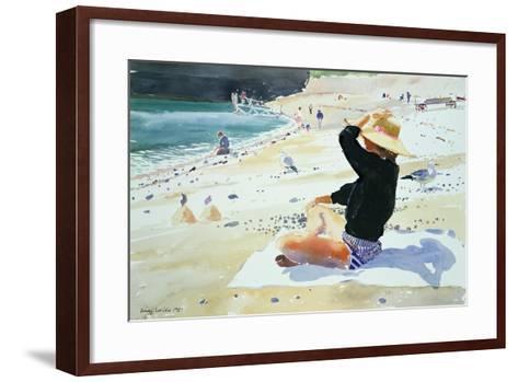 Black Jumper-Lucy Willis-Framed Art Print
