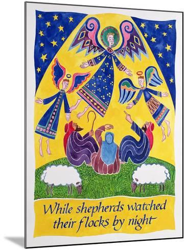 While Shepherds Watched their Flocks by Night-Cathy Baxter-Mounted Giclee Print