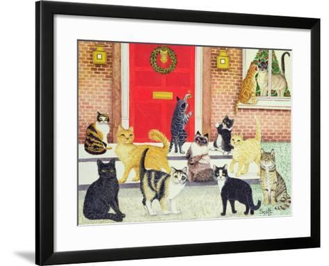 Christmas Carols-Pat Scott-Framed Art Print
