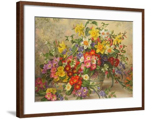 Spring Flowers and Poole Pottery, No. 2-Albert Williams-Framed Art Print
