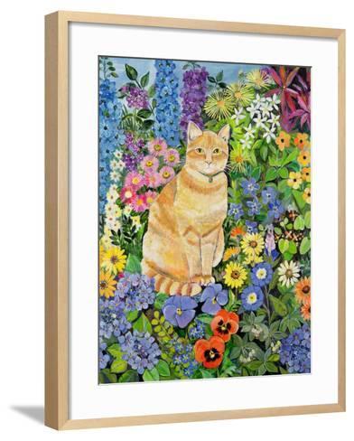 Gordon's Cat, 1996-Hilary Jones-Framed Art Print