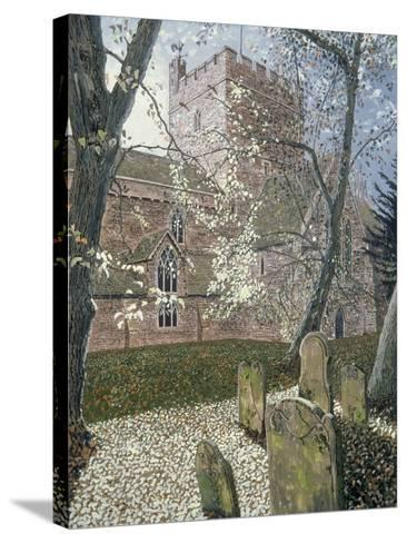 Brecon Cathedral, Autumn Day, 1992-Huw S. Parsons-Stretched Canvas Print