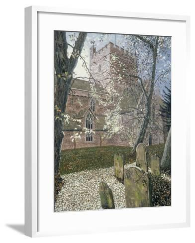 Brecon Cathedral, Autumn Day, 1992-Huw S. Parsons-Framed Art Print