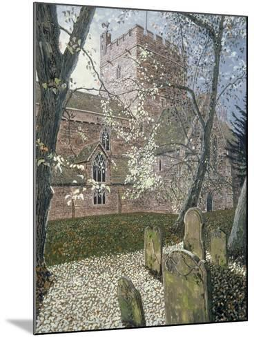 Brecon Cathedral, Autumn Day, 1992-Huw S. Parsons-Mounted Giclee Print