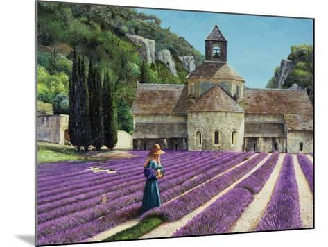 Lavender Picker, Abbaye Senanque, Provence-Trevor Neal-Mounted Giclee Print