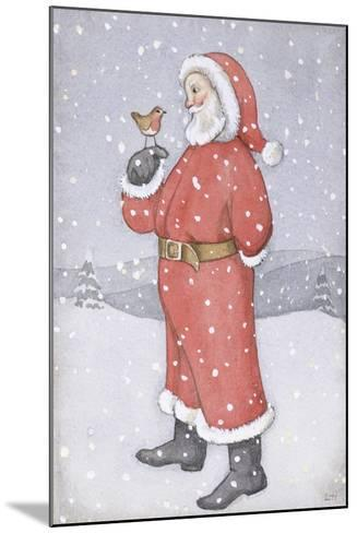 Father Christmas and a Robin-Lavinia Hamer-Mounted Giclee Print