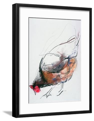 Feeding Hen, Trasierra, 1998-Mark Adlington-Framed Art Print