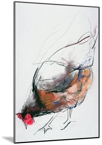 Feeding Hen, Trasierra, 1998-Mark Adlington-Mounted Giclee Print