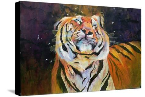 Tiger (Shaking Head) 1996-Odile Kidd-Stretched Canvas Print