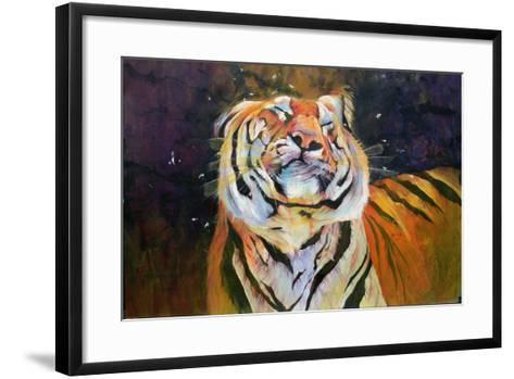 Tiger (Shaking Head) 1996-Odile Kidd-Framed Art Print