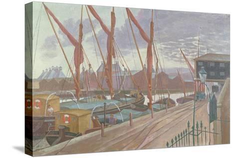 Ipswich Docks-John Northcote Nash-Stretched Canvas Print