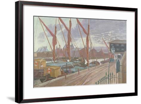 Ipswich Docks-John Northcote Nash-Framed Art Print
