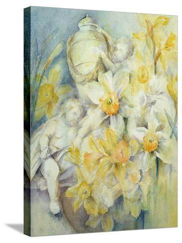 Stourhead Daffodils-Karen Armitage-Stretched Canvas Print
