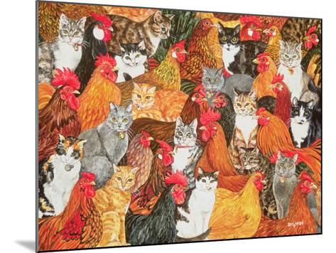 Chicken-Cats-Ditz-Mounted Giclee Print
