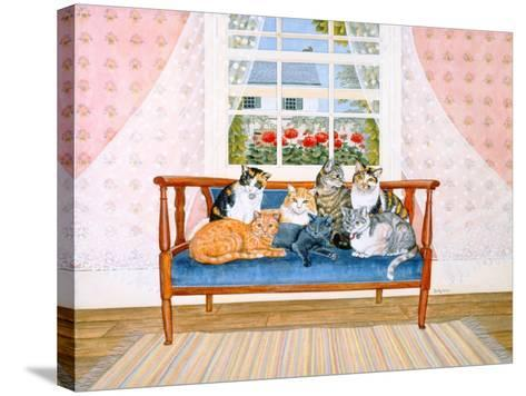 Biedermeier-Cats-Ditz-Stretched Canvas Print