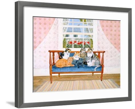 Biedermeier-Cats-Ditz-Framed Art Print