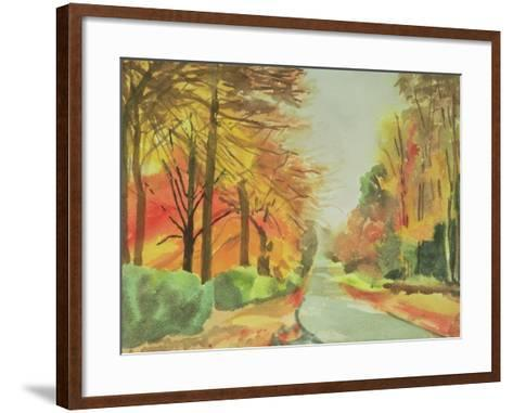 No.47 Autumn, Beaufays Road, Liege, Belgium-Izabella Godlewska de Aranda-Framed Art Print