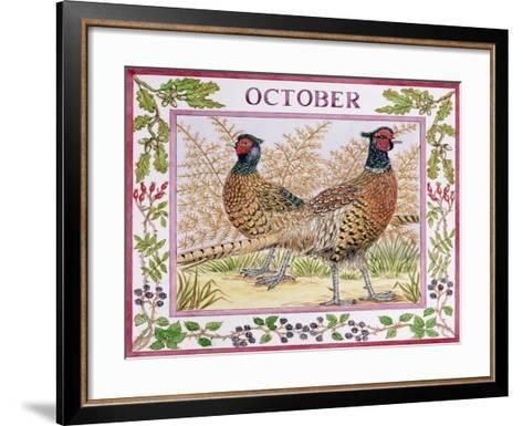 October-Catherine Bradbury-Framed Art Print