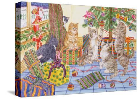 The Cats' Christmas-Catherine Bradbury-Stretched Canvas Print