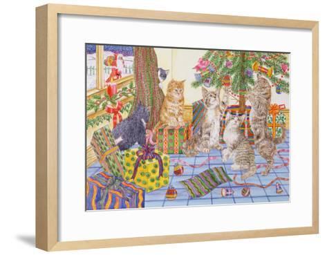 The Cats' Christmas-Catherine Bradbury-Framed Art Print