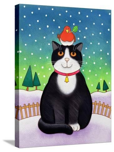 Cat with Robin-Cathy Baxter-Stretched Canvas Print