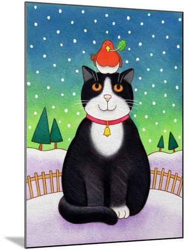 Cat with Robin-Cathy Baxter-Mounted Giclee Print