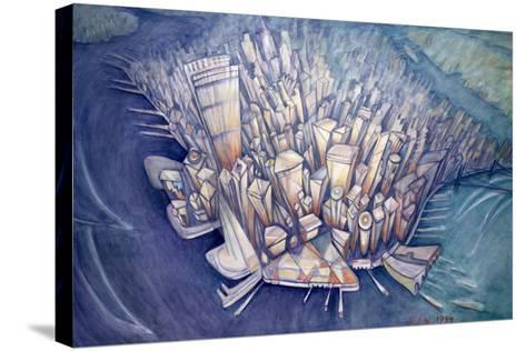 Manhattan from Above, 1994-Charlotte Johnson Wahl-Stretched Canvas Print