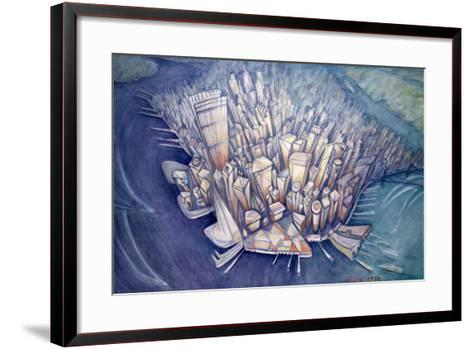 Manhattan from Above, 1994-Charlotte Johnson Wahl-Framed Art Print